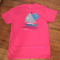 SOUTHERN DARLIN' COLLECTION: Sailboat Tee - Pink