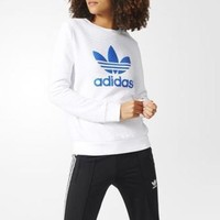 1702 adidas Originals Trefoil Crew Women's Sweater Sweatshirt BJ8292