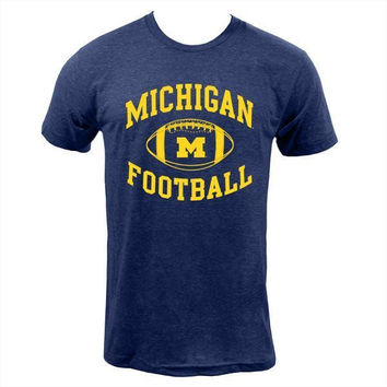 Michigan Football Tee - Navy