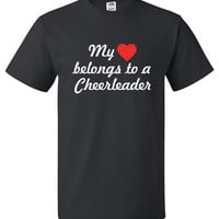 My Heart Belongs To A Cheerleader Shirt