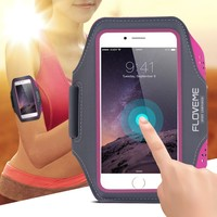 Floveme Phone Bags Sprots Arm band Case for iphone 7 6 6s Plus Cover for samsung galaxy S7 S6 edge S5 Case Running Jogging Cover