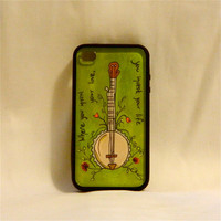 I Gave You All, iPhone case, iPhone cover, iPhone 4/4s, Mumford & Sons, son quote, love, banjo, flowers, hipster