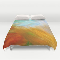 Sand & Water abstract Duvet Cover by DuckyB (Brandi)