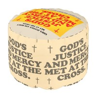 God's Justice And Mercy Met At The Cross. Pouf