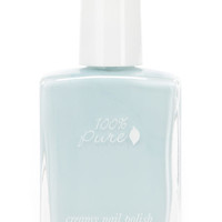 100% Pure Cloud Creamy Light Blue Nail Polish