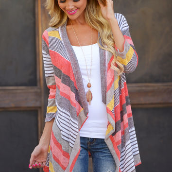 Don't Count Me Out Cardigan - Coral
