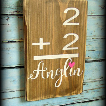 Family Flash Card Sign - Gallery Wall - Family Number Sign - Last Name Sign - Family Name - Custom Sign - Personalized Sign - Wedding Gift