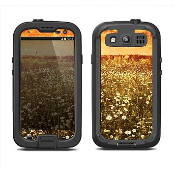The Vintage Glowing Orange Field Samsung Galaxy S4 LifeProof Fre Case Skin Set