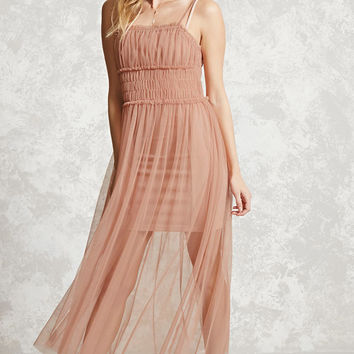 Contemporary Sheer Mesh Dress