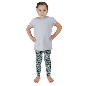 Kid's Mermaid Leggings Sea Fire