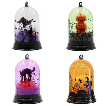 Halloween Changing Hanging Lamp  Decorated Light Portable Lantern Pumpkin Skull Ghost Nightlight Party Accessories