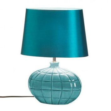 Turquoise Table Lamp (pack of 1 EA)