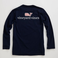 Boys Long-Sleeve VV Logo Graphic T-Shirt - Vineyard Vines