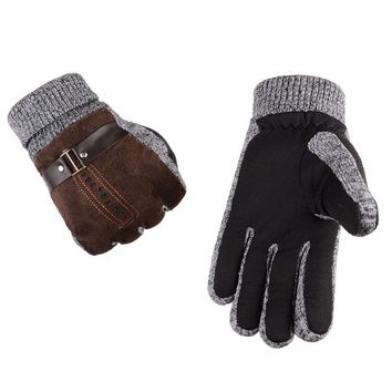 Warm Non-slip Men's Driving Skiing Hiking Cycling Golf Hunting Gloves 2 Colors