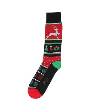 Christmas Motifs Socks in Black by Byford