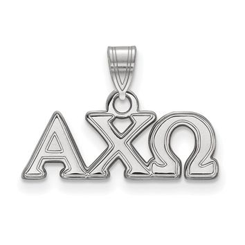 Sterling Silver Alpha Chi Omega Small Pendant