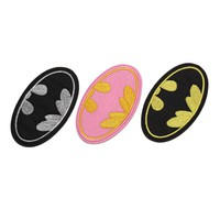 1PC Cartoon Kids Batwoman Batman Iron On Patches Clothes Patches For Clothing Girls Boys Embroidered 9.5x5.5cm