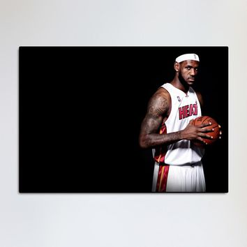 Tattoo Miami LeBron  Heat The basketball sports fantasy living room home wall art decor wood frame fabric poster MM05