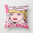 Barbie Throw Pillow by LuxuryLivingNYC