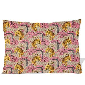 """Light-Gucci-Bengal printed 2 side picture pillow case zippered 18 x 26 """""""