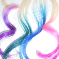 Tape Hair Extensions // Dip Dye // Ombre // CHOOSE YOUR COLOR // Ready To Ship