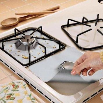 4Pcs Reusable Stovetop Burner Protector