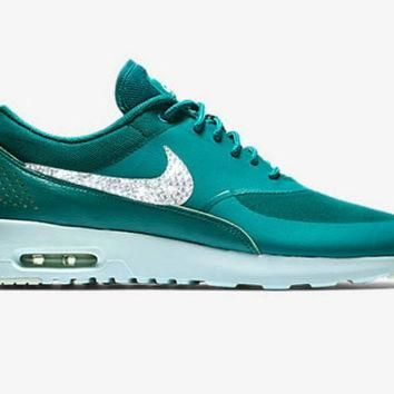 Nike air max thea, bling nikes, nike air max, swarovski nike, turquoise bike air max,