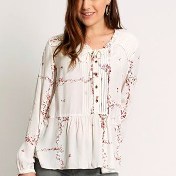 Natural Grace Floral Blouse