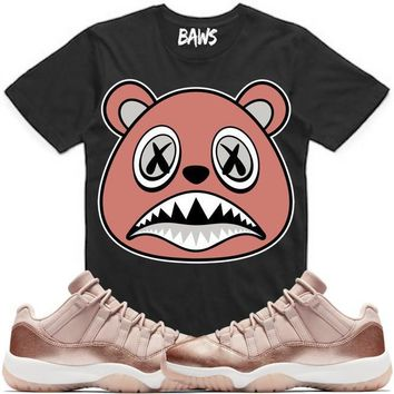 ROSE GOLD BAWS Sneaker Tees Shirt - Jordan 11s Low Rose Gold