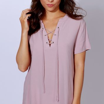 Love & Lace Top Dusty Lilac