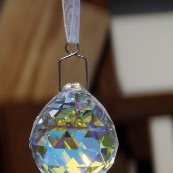 Asfour Crystal Aurora Borealis 30mm Suncatcher Prism Crystal Ball, Feng Shui, Crystal Prism Ball, Christmas Ornament