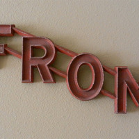 Vintage Metal  Theater Marquee Sign: FROM