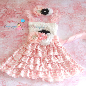 Blush Pink Chevron lace dress set, Flower girls dress, Pink  Dress,baby dress, Birthday outfit, fall outfit, chevron dress, girls dress