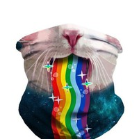 Rainbow Kitty Seamless Mask Bandana