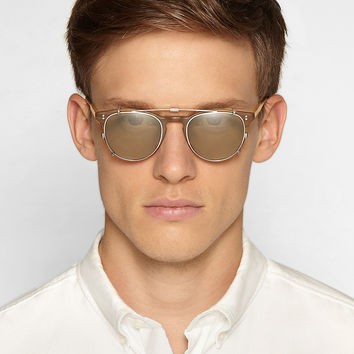 Garrett Leight California Optical - Milwood Detachable-Front Matte-Acetate Sunglasses | MR PORTER