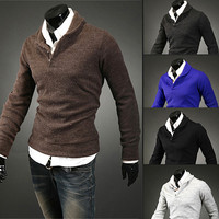 Men Fashion Urban Style Design Knit Sweater