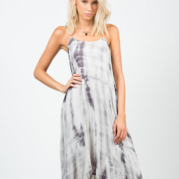 Strappy Tie-Dye Dress