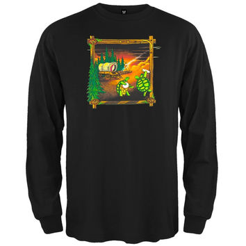 Grateful Dead - Covered Wagon Black Long Sleeve T-Shirt