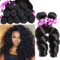 4 Bundles Peruvian Curly Hair Loose Curly Virgin Hair