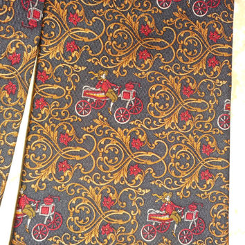 Men's SALVATORE FERRAGAMO 100% Silk Tie ITALY