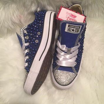 ONETOW couture pearl and crystals wedding prom custom converse color