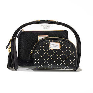 Black Studded Cosmetic Bag Trio - Victoria's Secret - Victoria's Secret