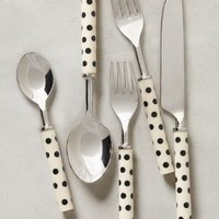Crescendo Dot Flatware by Anthropologie