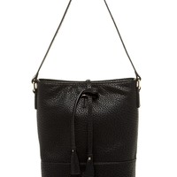 Pebble Faux Leather Bucket Shoulder Bag