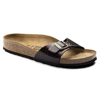 Best Online Sale Birkenstock Madrid Birko Flor Myda Wine 1006615 Sandals