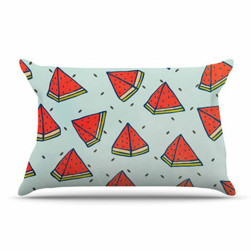 "Strawberringo ""Watermelon Pattern Summer Love"" Fruit Food Pillow Sham"