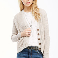 Marled Drop-Sleeved Cardigan