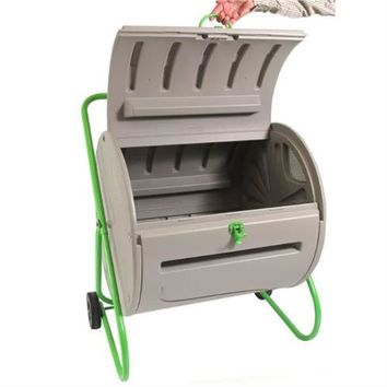 Rugged Weather Resistant Outdoor Compost Bin Tumbler - 4.9 Cubic Ft