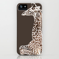Giraffe in Brawn iPhone & iPod Case by Sunshine Inspired Designs