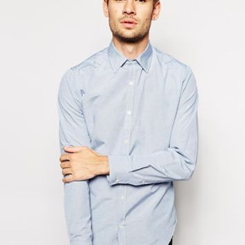French Connection Shirt Horizontal Stripe - Blue